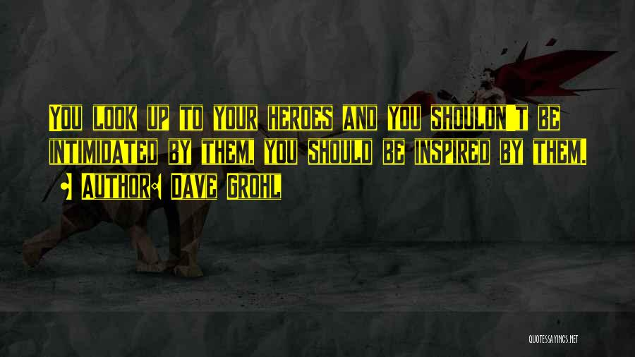 Intimidated By You Quotes By Dave Grohl