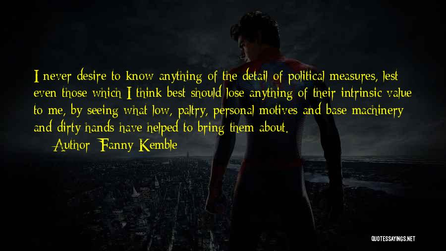 Intrinsic Value Quotes By Fanny Kemble