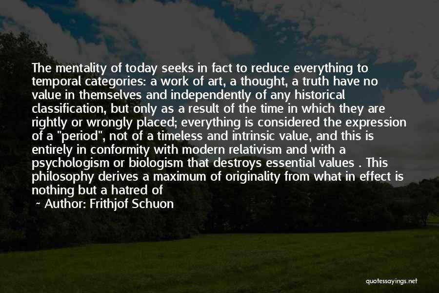 Intrinsic Value Quotes By Frithjof Schuon