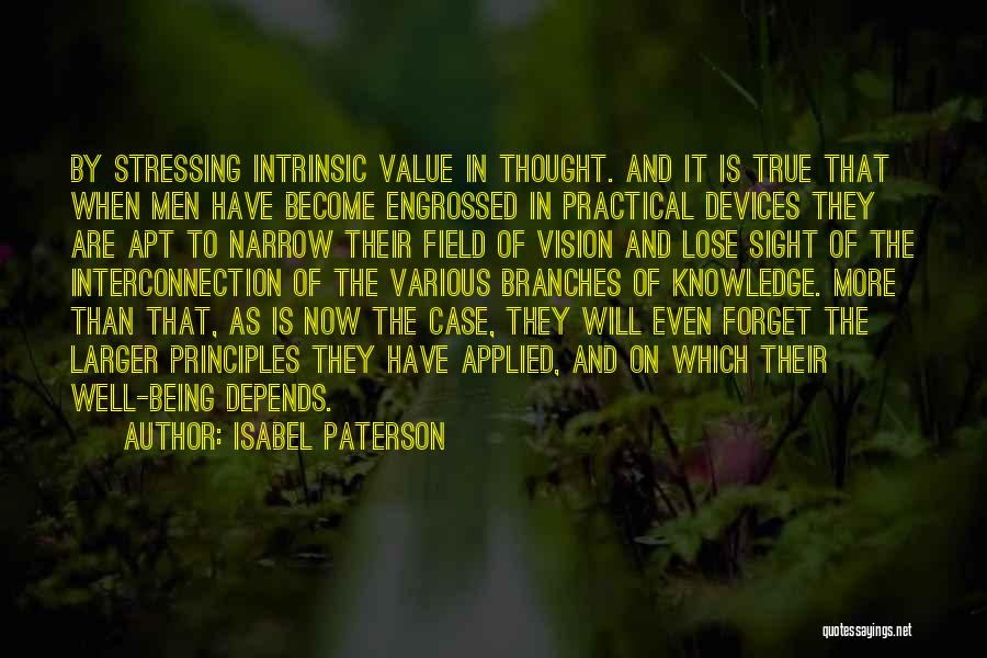 Intrinsic Value Quotes By Isabel Paterson