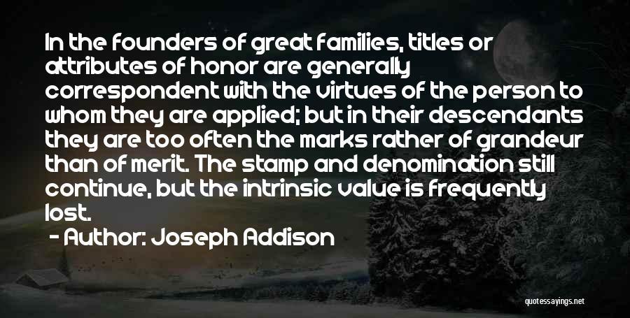 Intrinsic Value Quotes By Joseph Addison