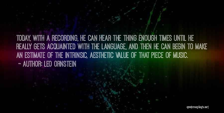 Intrinsic Value Quotes By Leo Ornstein