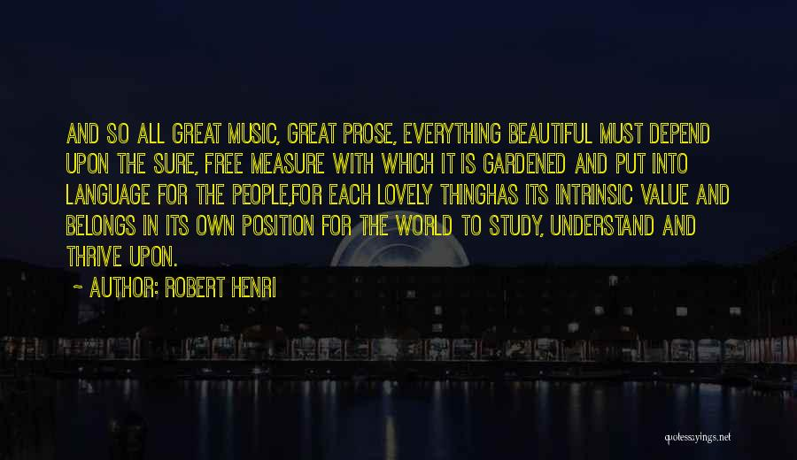 Intrinsic Value Quotes By Robert Henri