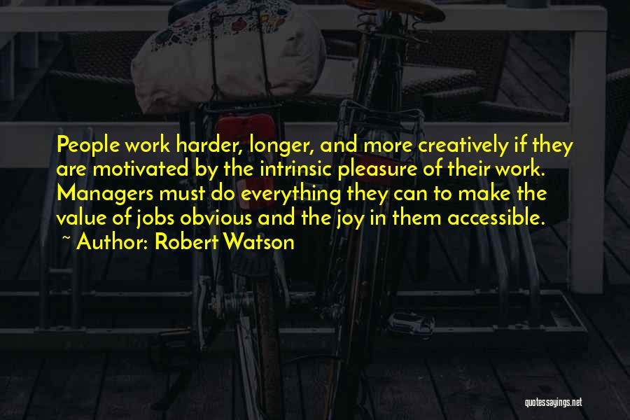 Intrinsic Value Quotes By Robert Watson
