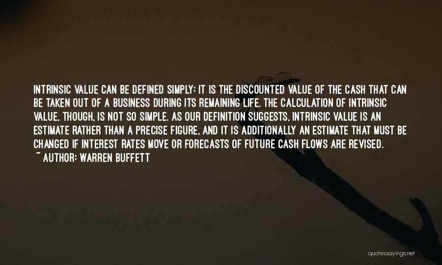 Intrinsic Value Quotes By Warren Buffett