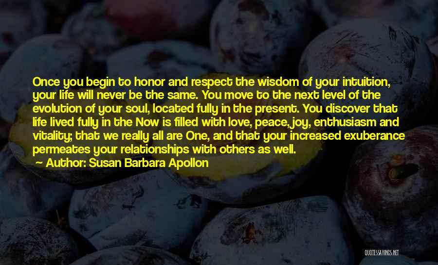 Intuition And Relationships Quotes By Susan Barbara Apollon