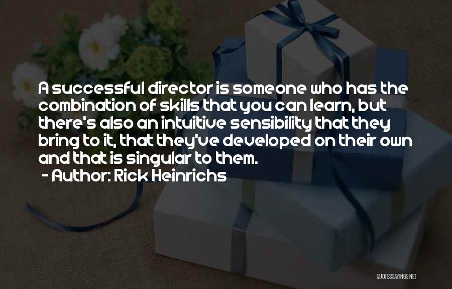 Intuitive Quotes By Rick Heinrichs