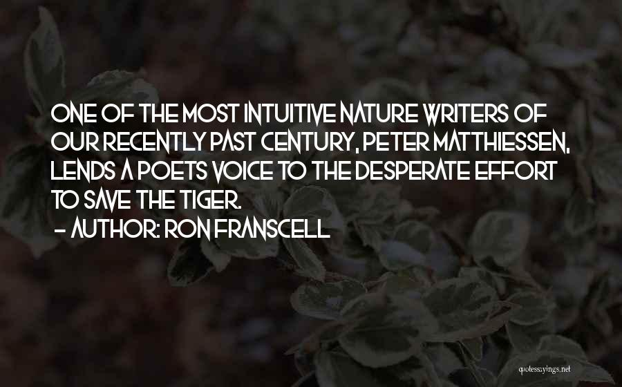 Intuitive Quotes By Ron Franscell