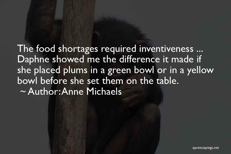 Inventiveness Quotes By Anne Michaels