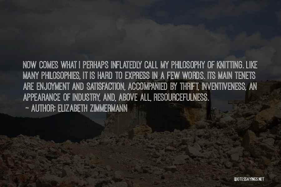 Inventiveness Quotes By Elizabeth Zimmermann