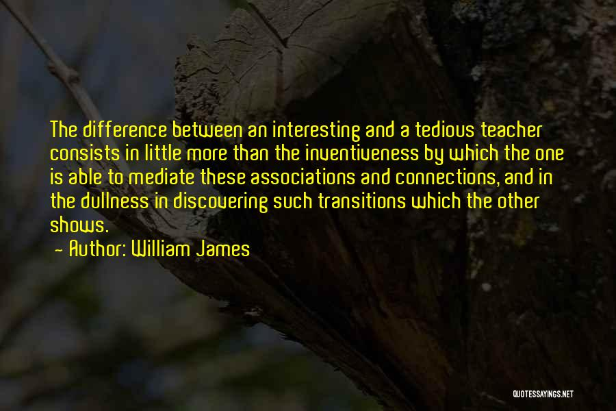 Inventiveness Quotes By William James