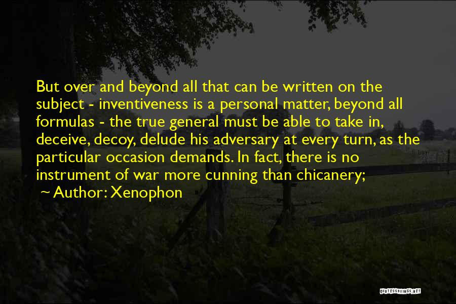 Inventiveness Quotes By Xenophon