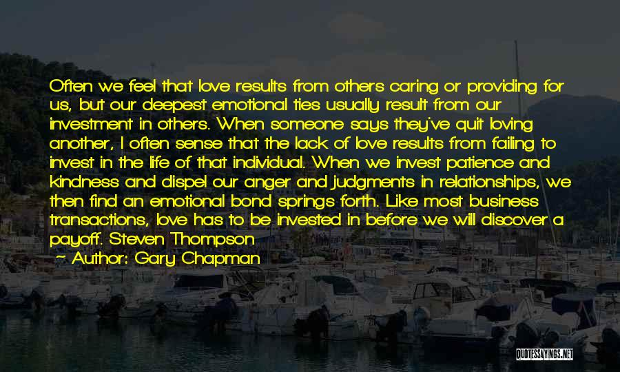 Invest In Relationships Quotes By Gary Chapman
