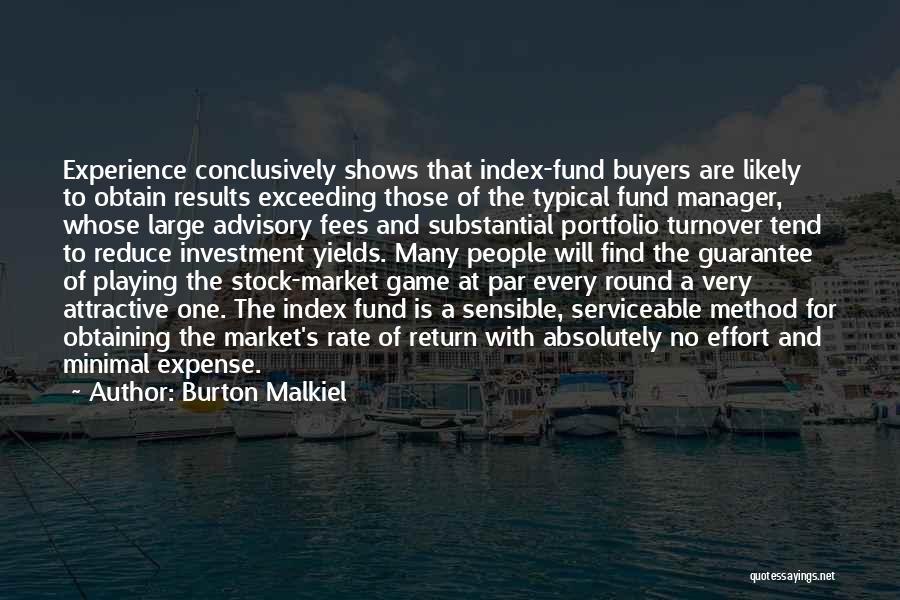 Investment Advisory Quotes By Burton Malkiel