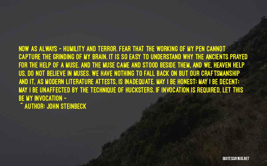 Invocation To God Quotes By John Steinbeck