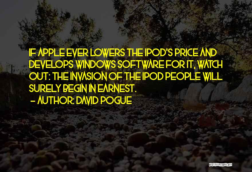 Ipods Quotes By David Pogue