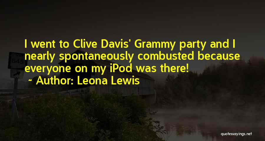 Ipods Quotes By Leona Lewis