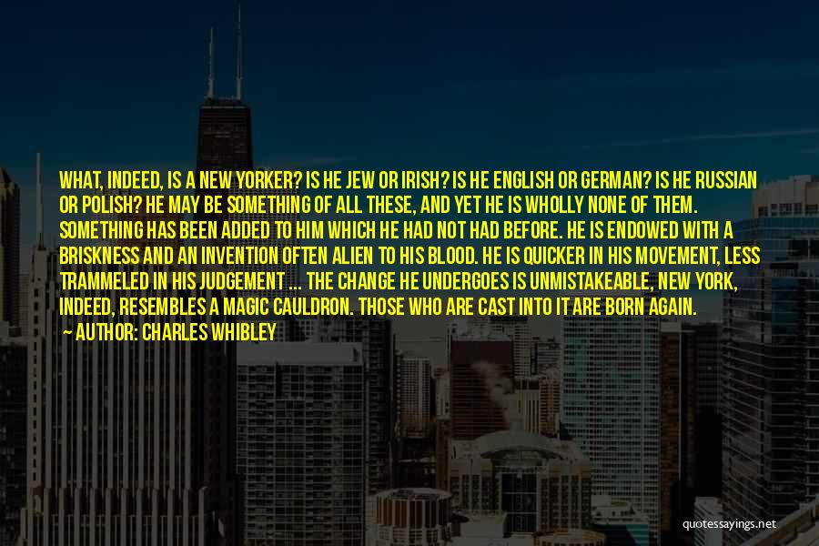 Irish Immigration Quotes By Charles Whibley
