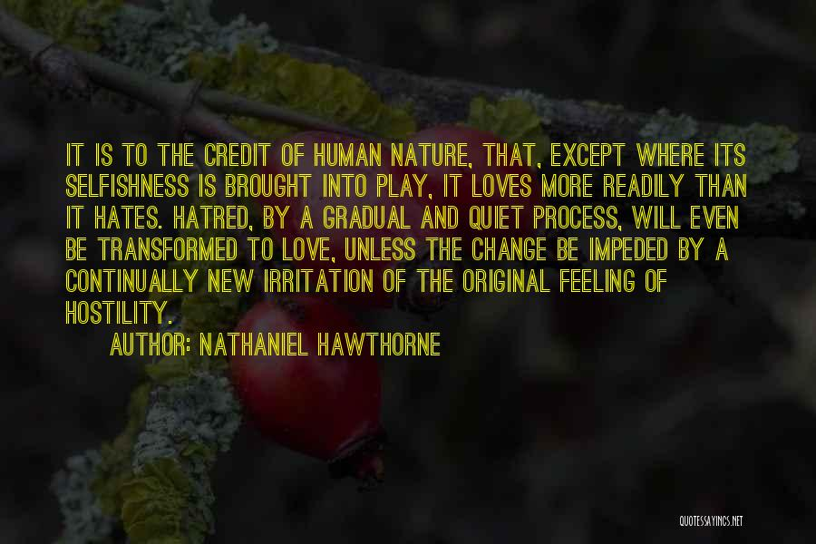 Irritation To Love Quotes By Nathaniel Hawthorne