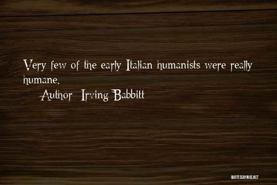 Irving Babbitt Quotes 1405804