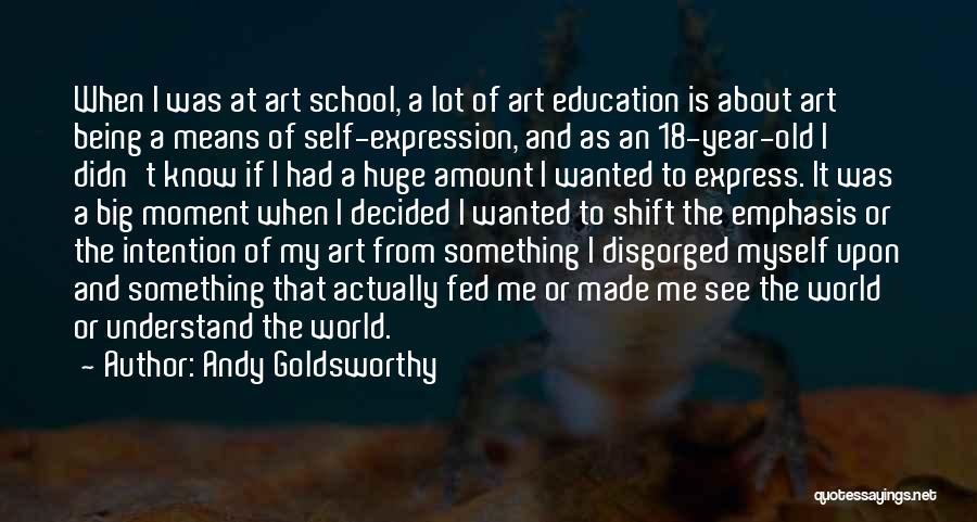 Is About Me Quotes By Andy Goldsworthy