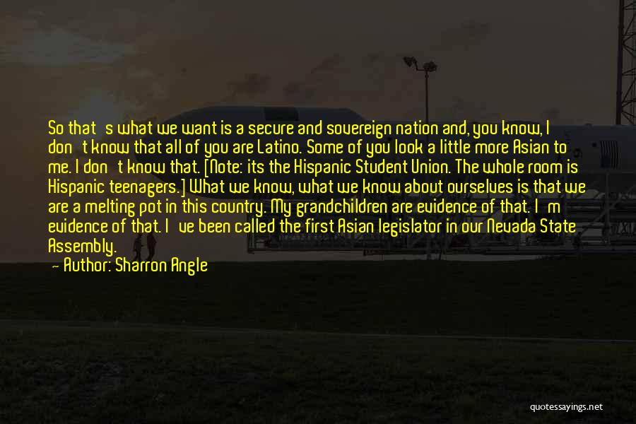 Is About Me Quotes By Sharron Angle