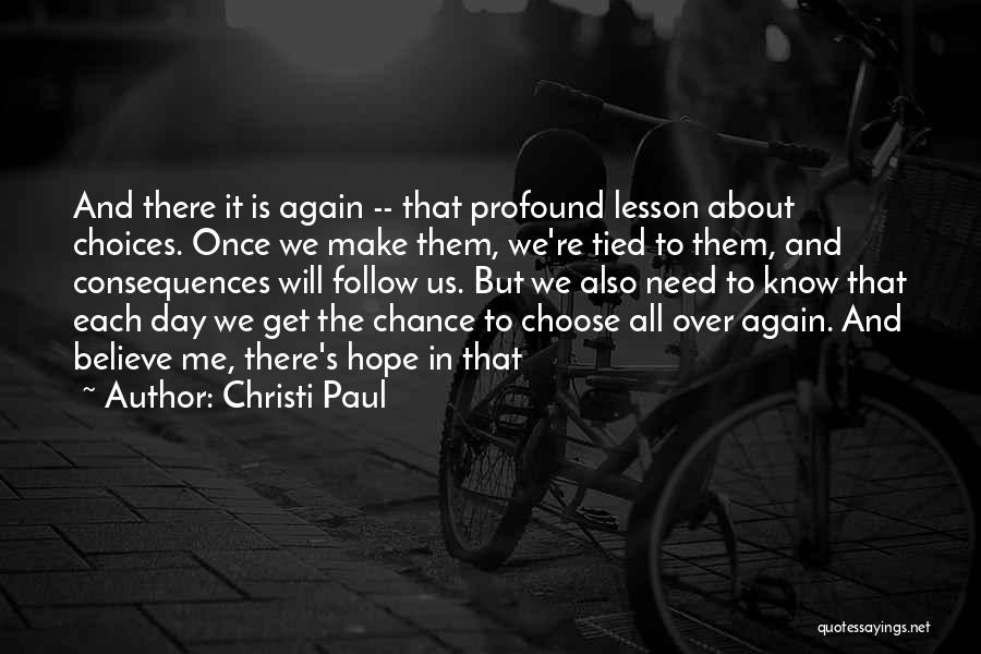 Is There Hope Quotes By Christi Paul
