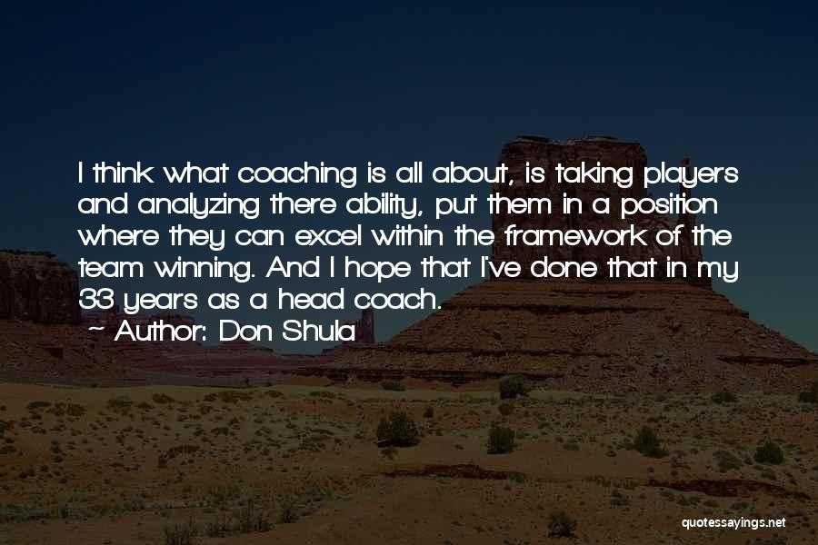 Is There Hope Quotes By Don Shula