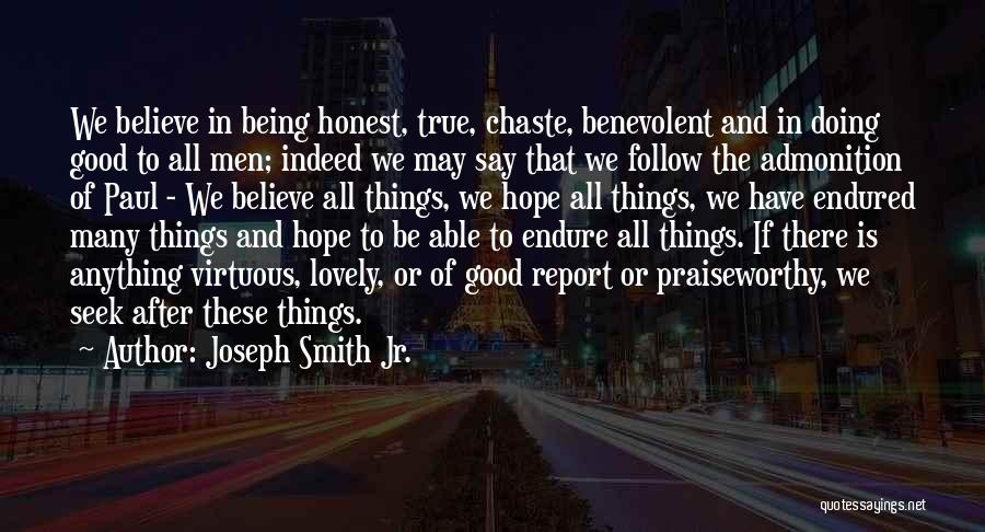 Is There Hope Quotes By Joseph Smith Jr.