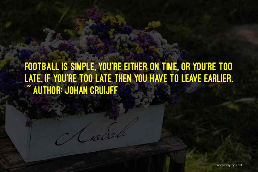 Is Too Late Quotes By Johan Cruijff