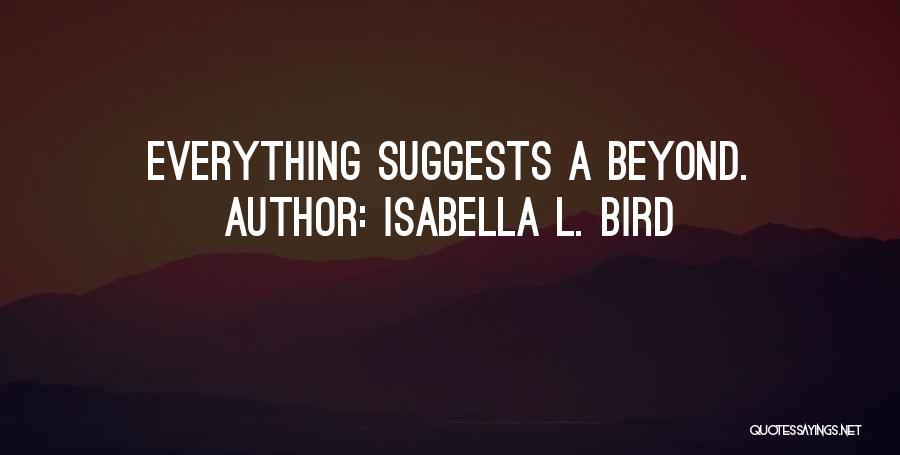 Isabella L. Bird Quotes 190947