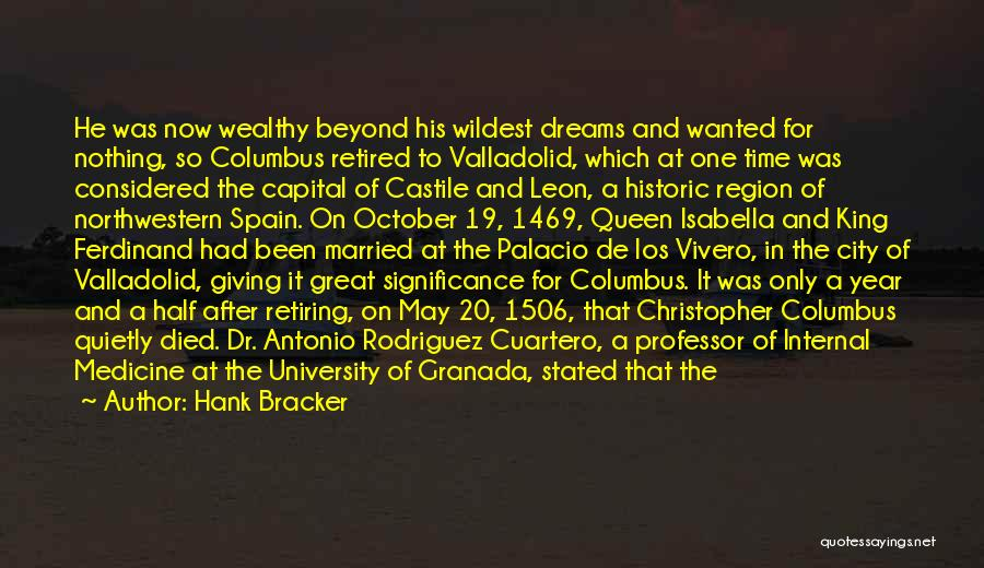 Isabella Of Spain Quotes By Hank Bracker
