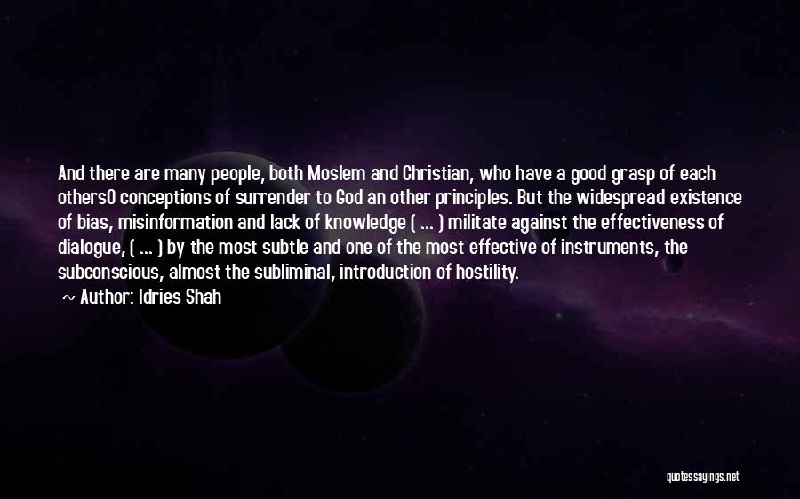 Islam Is A Religion Of Peace Quotes By Idries Shah