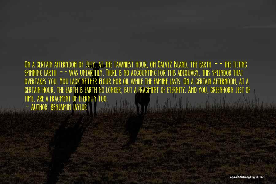 Island Quotes By Benjamin Taylor