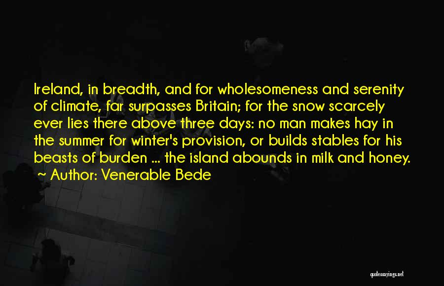 Island Quotes By Venerable Bede