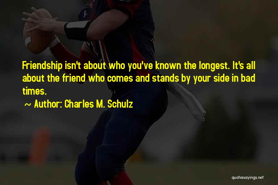 It All About Friendship Quotes By Charles M. Schulz