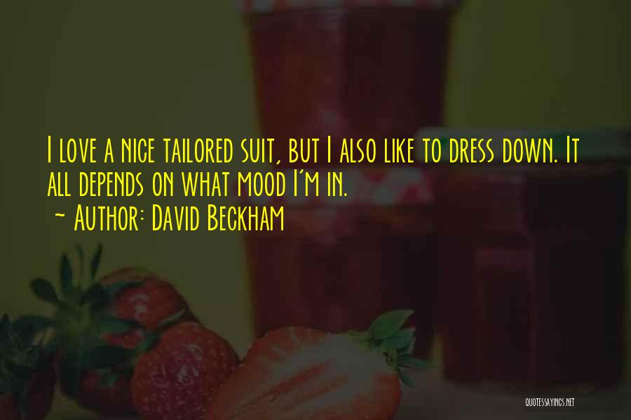 It All Depends Quotes By David Beckham