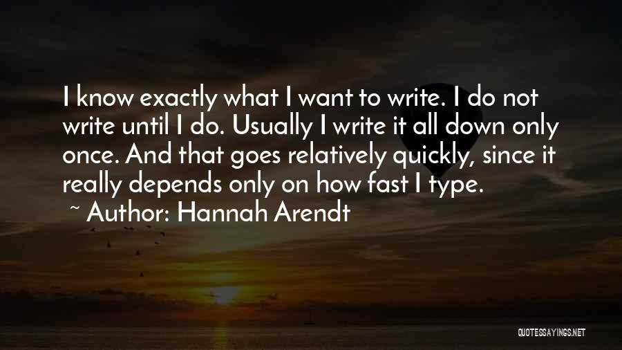 It All Depends Quotes By Hannah Arendt
