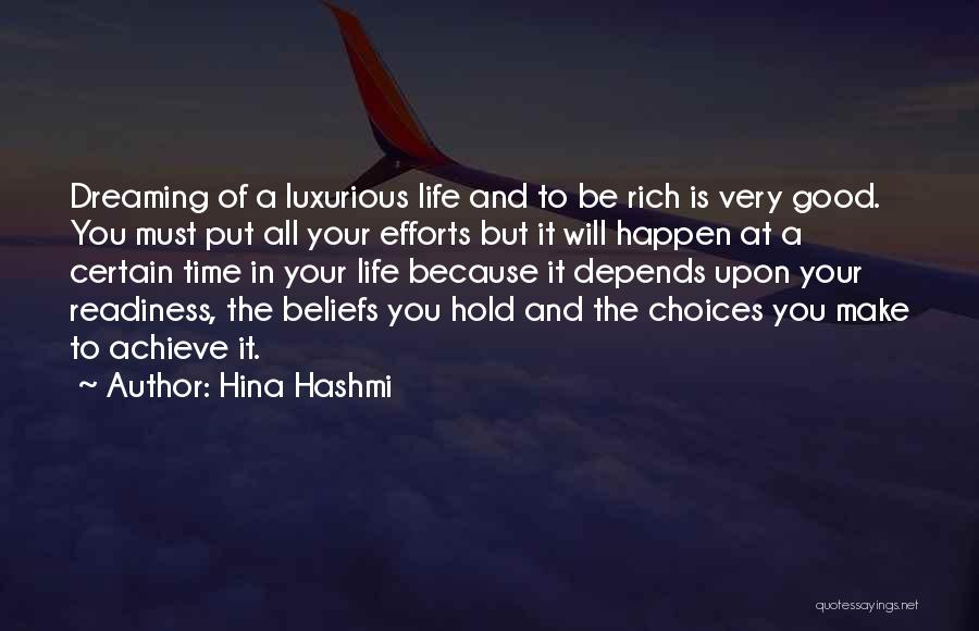It All Depends Quotes By Hina Hashmi