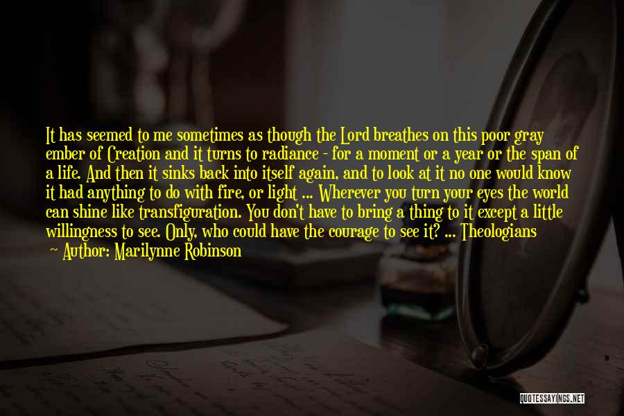It Been A Great Year Quotes By Marilynne Robinson