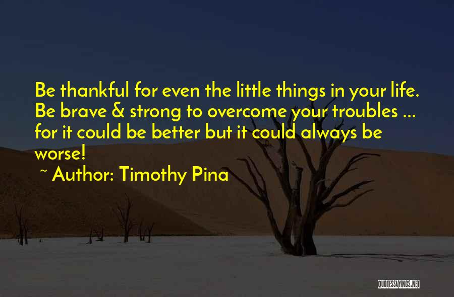 It Could Be Worse Quotes By Timothy Pina