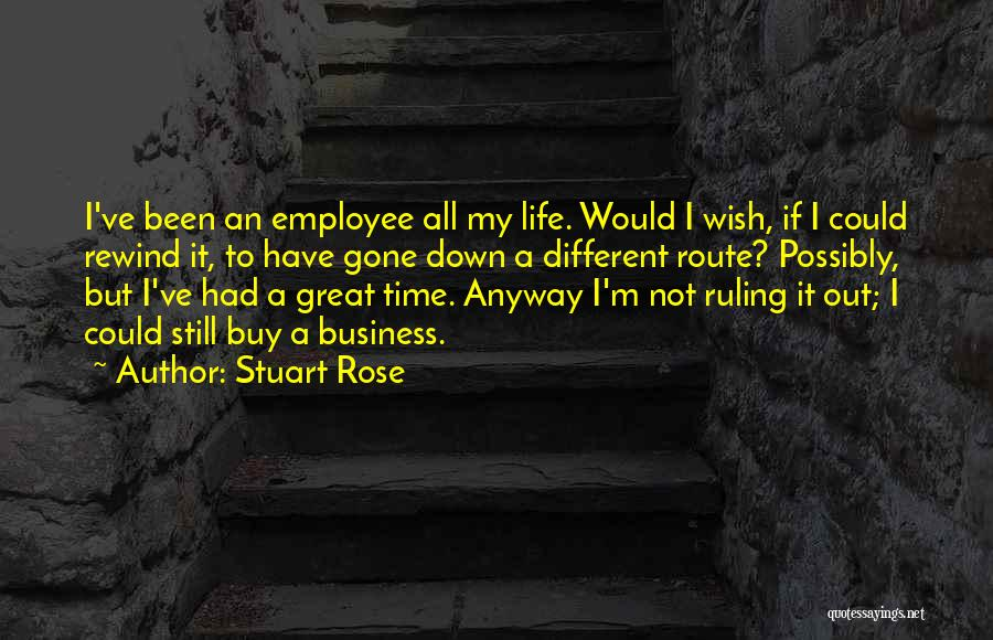 It Could Have Been Different Quotes By Stuart Rose