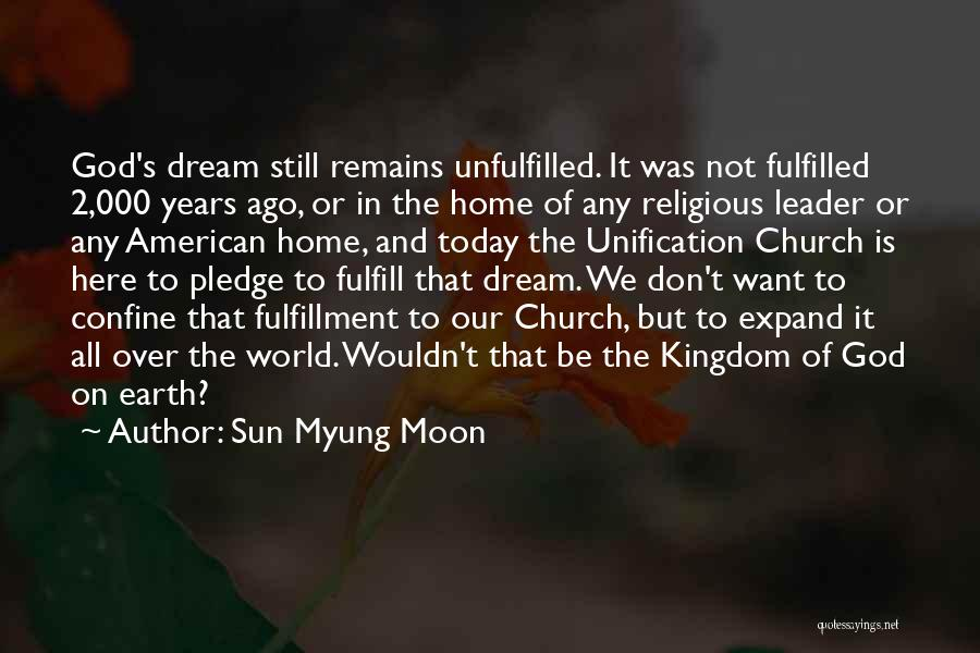 It Is All Over Quotes By Sun Myung Moon