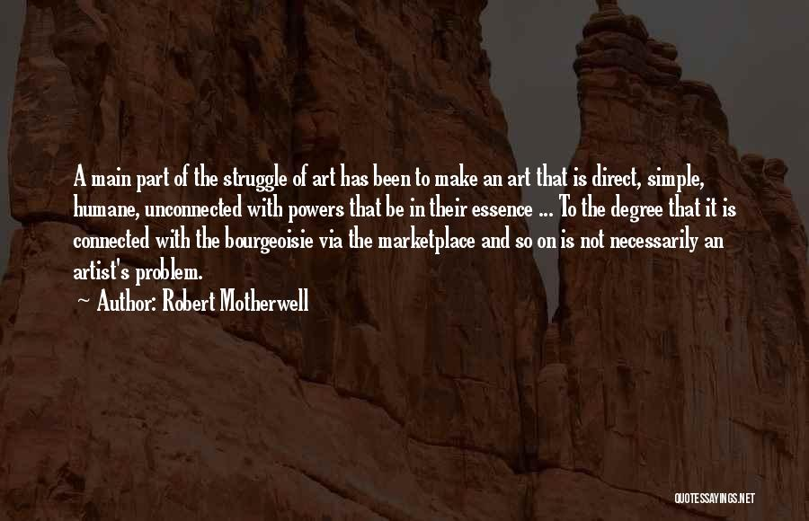 It Not That Simple Quotes By Robert Motherwell