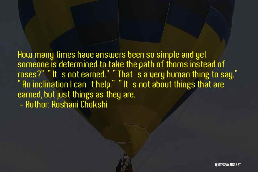 It Not That Simple Quotes By Roshani Chokshi