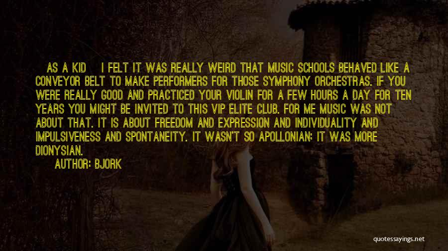 It Was Good Day Quotes By Bjork