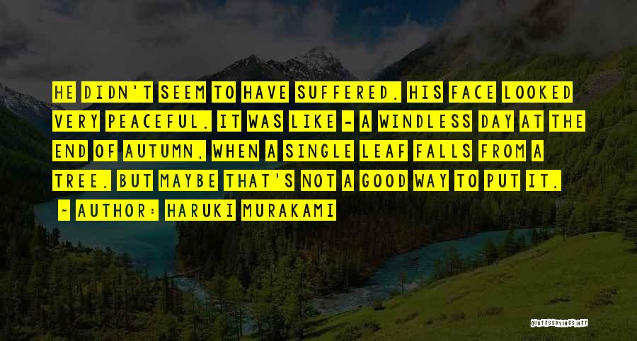 It Was Good Day Quotes By Haruki Murakami