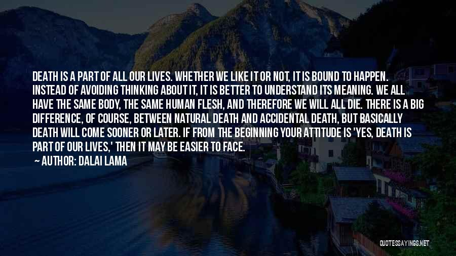 It's All About Your Attitude Quotes By Dalai Lama