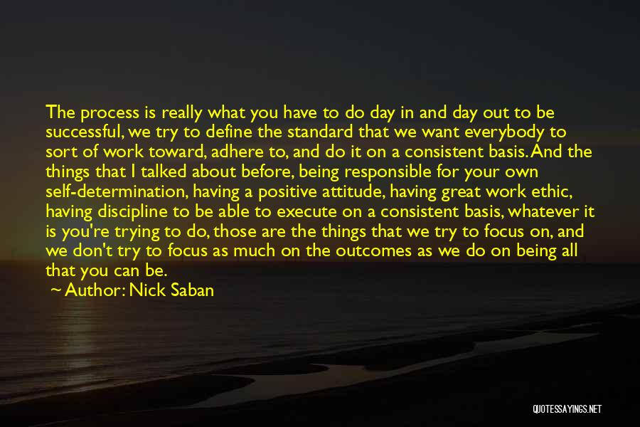It's All About Your Attitude Quotes By Nick Saban