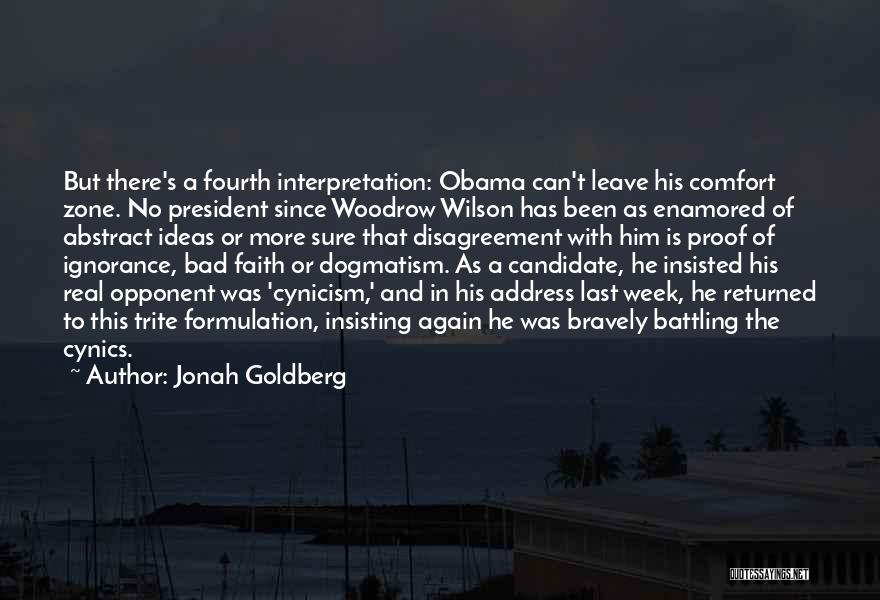It's Been A Bad Week Quotes By Jonah Goldberg